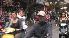Vietnam: Motorcycle City Stock Footage