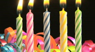 Stock Video Footage of Birthday candles, time lapse