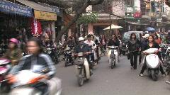 Vietnam: Rush Hour in Hanoi - stock footage