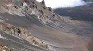 Maui Haleakala Volcano crater Hawaii close pan right M HD Stock Footage