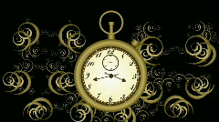 Antique stop watch time-lapse illustration HD 1080i Stock Footage