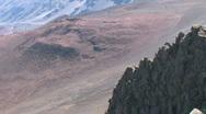 Maui Haleakala Volcano crater Hawaii close pan left M HD Stock Footage