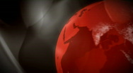 Stock Video Footage of Red globe with trails, HD