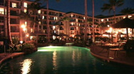 Stock Video Footage of Resort pool night Maui Hawaii vacation M HD