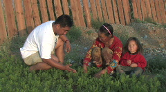 Woman recieves agricultural instruction in Mongolia Stock Footage