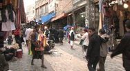 Stock Video Footage of People walk through the old city of Sanaa
