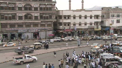 Street Shot of Sanaa, Yemen Stock Footage