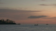 Stock Video Footage of Tropical island boats sunset M HD