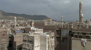 Pan of Old City from rooftop Stock Footage