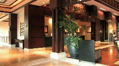 Resort lobby pan Hawaii right HD Stock Footage