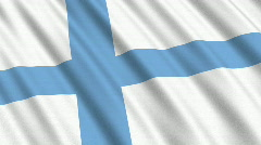 Flag of Finland Stock Footage