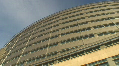 Modern office buildings tracking shot Stock Footage