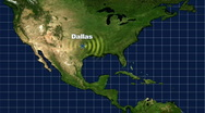 Stock Video Footage of Dallas Map Graphic