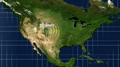 Stock Video Footage of Denver Map Graphic