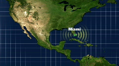 Miami Map Graphic Stock Footage