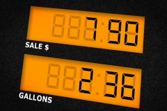 Gas pump display, NTSC Stock Footage