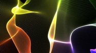 Abstract colored waves Stock Footage