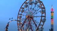 Ferris Wheel, time lapse Stock Footage