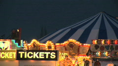 Merry Go Round Carousel and Ticket Booth at Carnival - stock footage