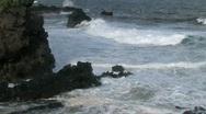 Maui river rocks surf HD Stock Footage