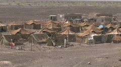 A Somalia refugee camp in Yemen - stock footage