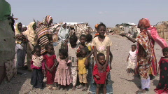 Somali Refugees Stock Footage
