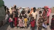 Somali Refugees Stock Footage