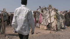Visiting Refugees Stock Footage