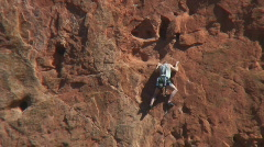 Rock climbing in Garden of the Gods Stock Footage