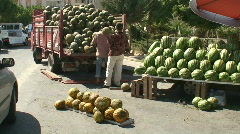 Loading watermelon's onto a truck in Turkey. HD 1080i - stock footage