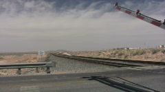 Railroad Crossing Traffic Stock Footage