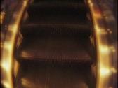 Riding shiny escalator Stock Footage