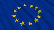 Flag of the European Union Stock Footage