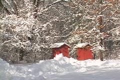 Michigan winter snow storm 2008 Stock Footage