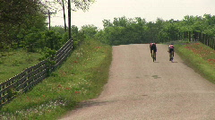 Rural cyclists Stock Footage