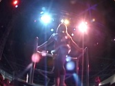 Stock Video Footage of MIAMI GoGo dancer extreme low angle