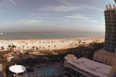 MIAMI Panoramic view over the ocean beach Stock Footage