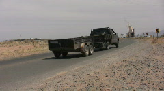 Truck and Trailer Traveling Stock Footage