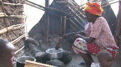 Cooking Meal in Africa Stock Footage