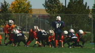 Stock Video Footage of Kids play American football