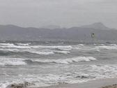 Kite Surfing Mallorca Spain Stock Footage