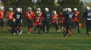 Stock Video Footage of Youngsters play American football
