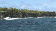 Maui Hana surf volcanic rock ocean water vacation Hawaii HD Stock Footage