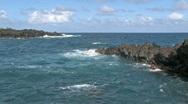 Maui Hana volcanic rock surf HD Stock Footage