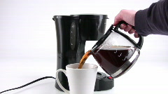 Pouring a Cup of Coffee Stock Footage