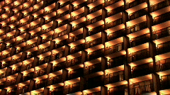 Hotel balconies San Antonio Texas pan right M HD Stock Footage