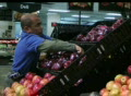 Man Facing Apples In Produce Footage