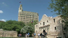 Alamo Emily Morgan side M HD Stock Footage