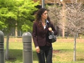 Stock Video Footage of Beautiful Latina Businesswoman Walking Outdoors