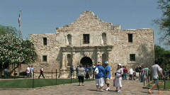 Alamo tourists M HD Stock Footage